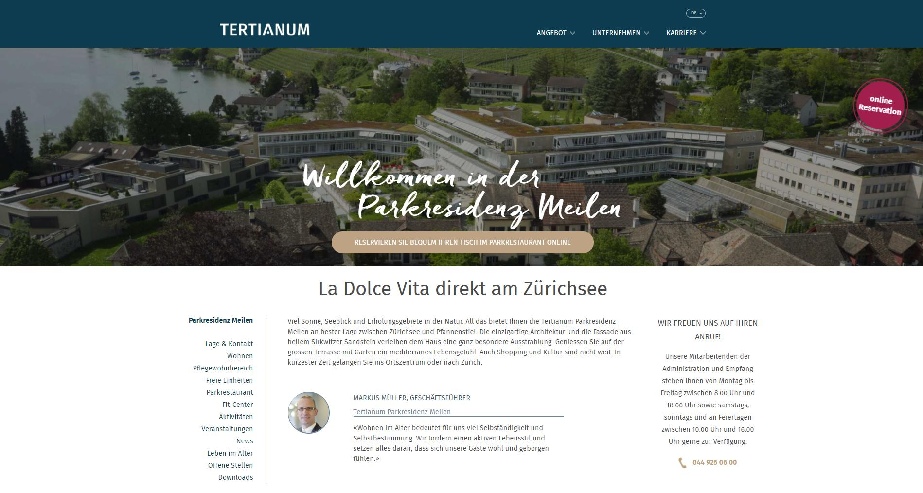 Content Marketing Content Formates Neuer Markenauftritt Tertianum Management AG