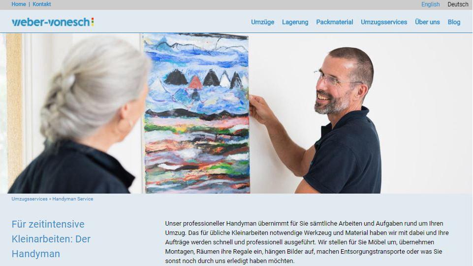 PRtools erstellt für Weber-Vonesch eine Website mit Webshop.